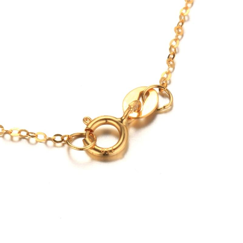Dainashi chaîne de haute qualité mode véritable 18 K chaînes en or Au750 bijoux en or fin haute qualité Anti allergique 45 cm boîte-cadeau - 6