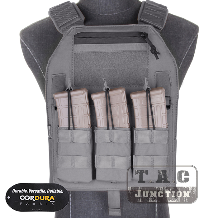 Emerson LBX-4019 Armatus Slick Plate Carrier EmersonGear Tactical Lightweight Adjustable Vest Body Armor w/ Mag Pouch & Plates