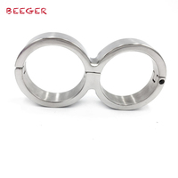 BEEGER Metal handcuffs bandage for female and male,Stainless Steel Handcuffs Locked Him/Her to Feel Bounded Fun Sexy Products