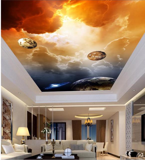 Us 17 34 49 Off 3d Mural Tapete Decken Wolken Decke Wohnzimmer Schlafzimmer Deckenfresken Dekoration In 3d Mural Tapete Decken Wolken Decke