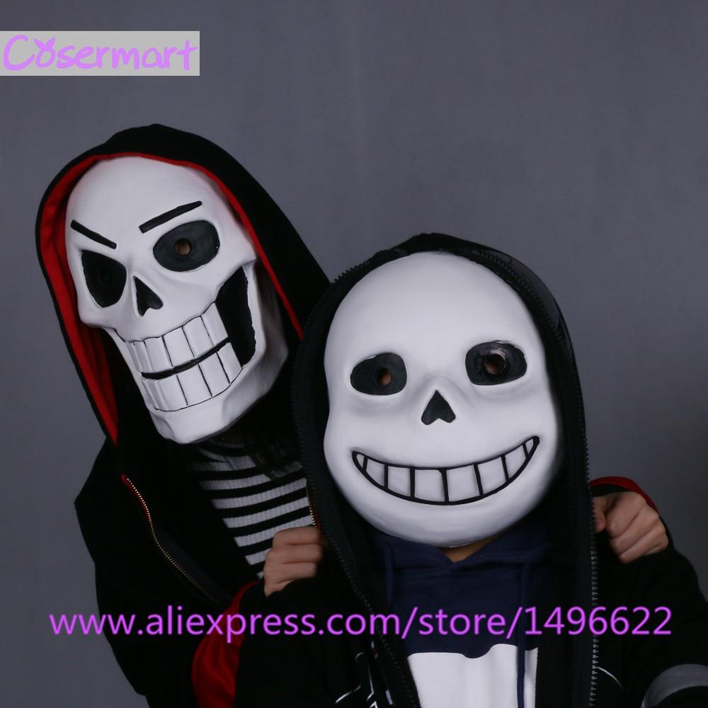 2019 Undertale Sans Papyrus Latex Mask Helmet Fancy Cosplay Prop Halloween Gift