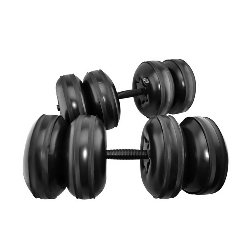 Haltères de voyage portatifs d'entraînement respectueux de l'environnement réglables remplis d'eau d'haltère de forme physique de Muscle de bras d'hommes de 25 kg - 2