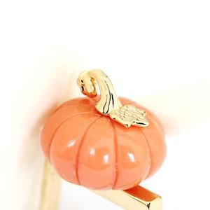 Image 2 - Orange Color Pumpkin Ring Elegant Noble Luxury Jewelry Enamel Glaze Ring bague Aneis