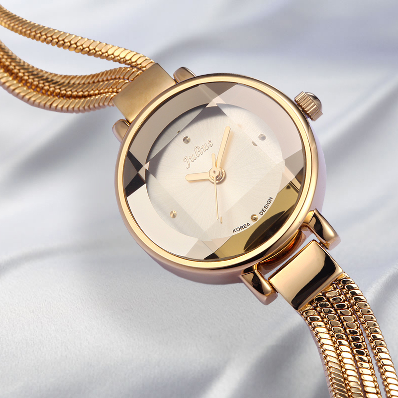 Julius Lady Woman Wrist Watch Quartz Hours Best Fashion Dress Chain Bracelet Band Snake Tassels Girl
