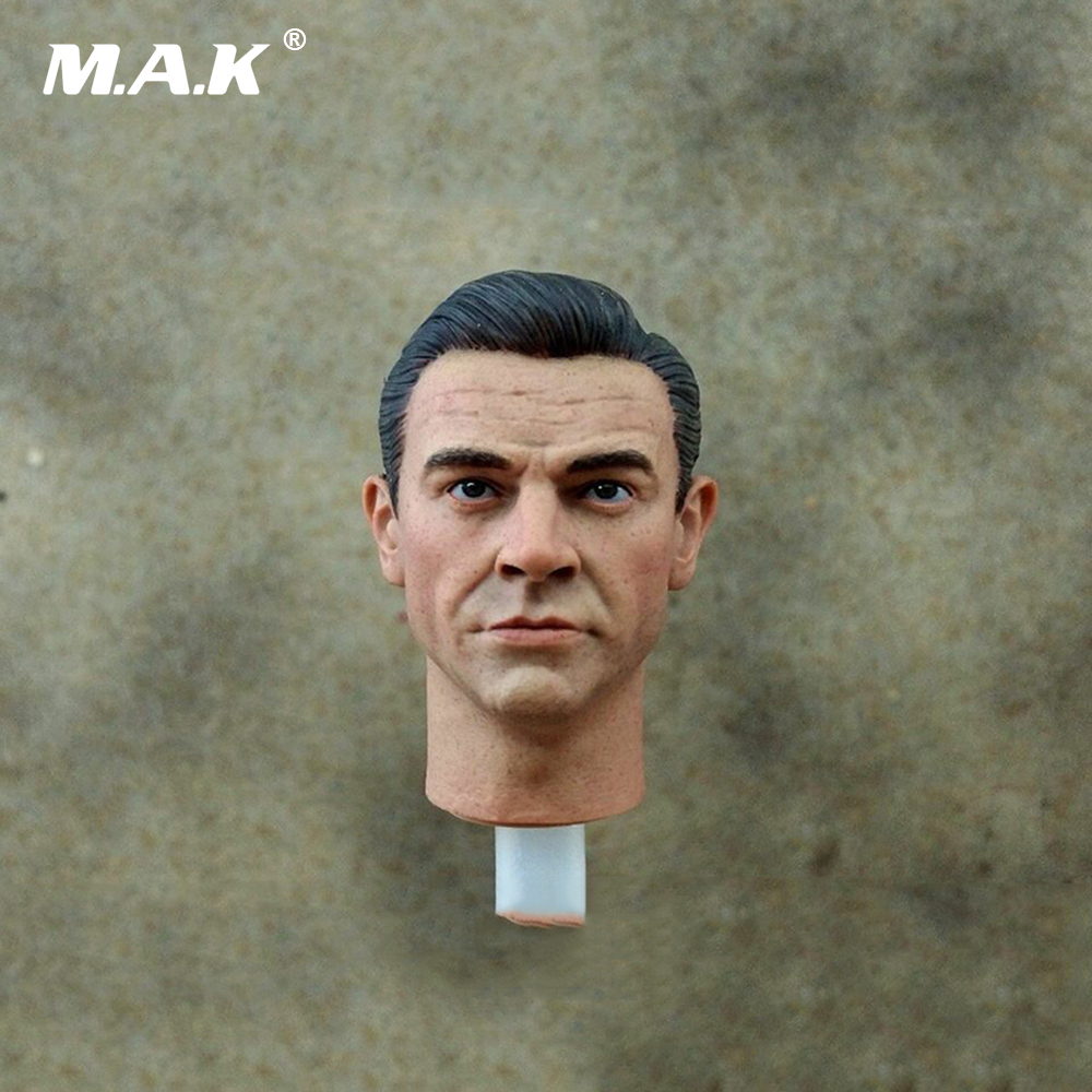 1/6 Scale 007 James Bond Head Sculpt Carving For 12 Action Figures Male Bodies six styles 1 6 scale mens head sculpt for 12 inches male bodies figures dolls accessories brinquedos gifts toys collections