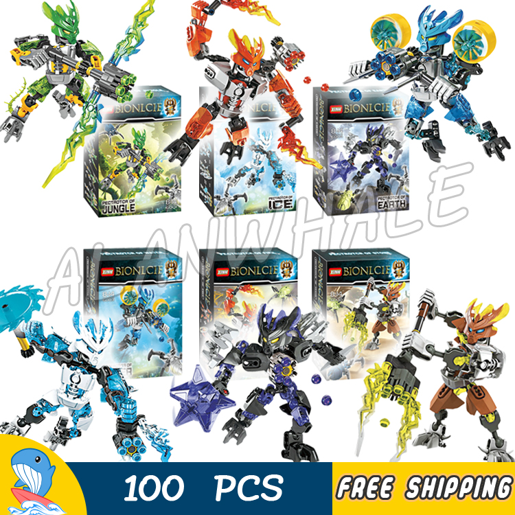 2017 Protector of Jungle Stone Water Ice Fire Earth Bionicle Hero Model Building Blocks Gifts Bricks Toys Compatible With lego конструктор lego bionicle 71301 кетар тотемное животное камня