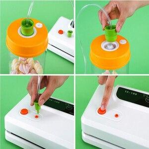 Image 3 - Automatyczna zgrzewarka próżniowa do pakowania próżniowego uszczelniającego powietrza maszyna pakująca do przechowywania żywności suchej, mokrej, miękkie jedzenie z darmowe 10 sztuk worki