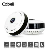 Cobell HD 960P Wifi IP Camera Home Security Wireless 360 Degree Panoramic CCTV Camera Night Vision Fish Eyes Lens VR Cam