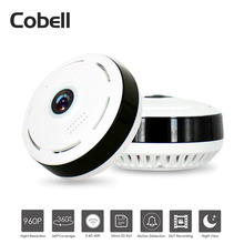 Cobell HD 960 P Wifi ip-камера Домашняя безопасность Беспроводная 360 градусов панорамная камера видеонаблюдения ночного видения Рыбий глаз объектив VR Cam