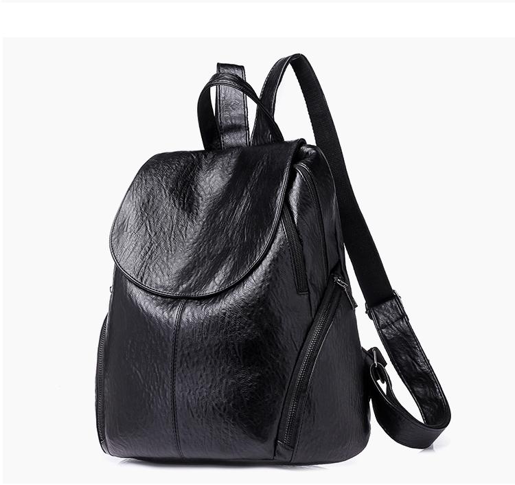 5b94858d8650 2018 Fashion Women Backpacks PU Leather Backpack Shoulder Bags ...