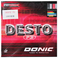 DONIC F3 DESTO Table Tennis Rubber Quick Attack Control pimples in with sponge ping pong tenis de mesa