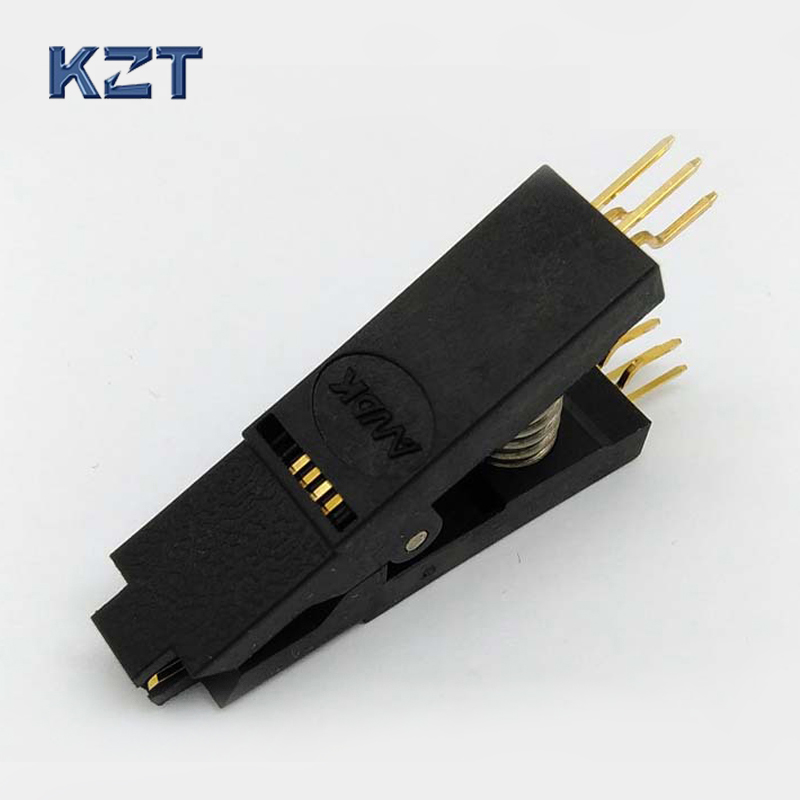 BIOS SOP8 SOIC8 Bent Original Test Clip Pin Pitch 1.27mm Universal Body EPROM Programming Clip Suitable for Dupont Line the latest test fixture sop8 pin bios clip width 8 pin universal adapter clip body clip clip burning chip