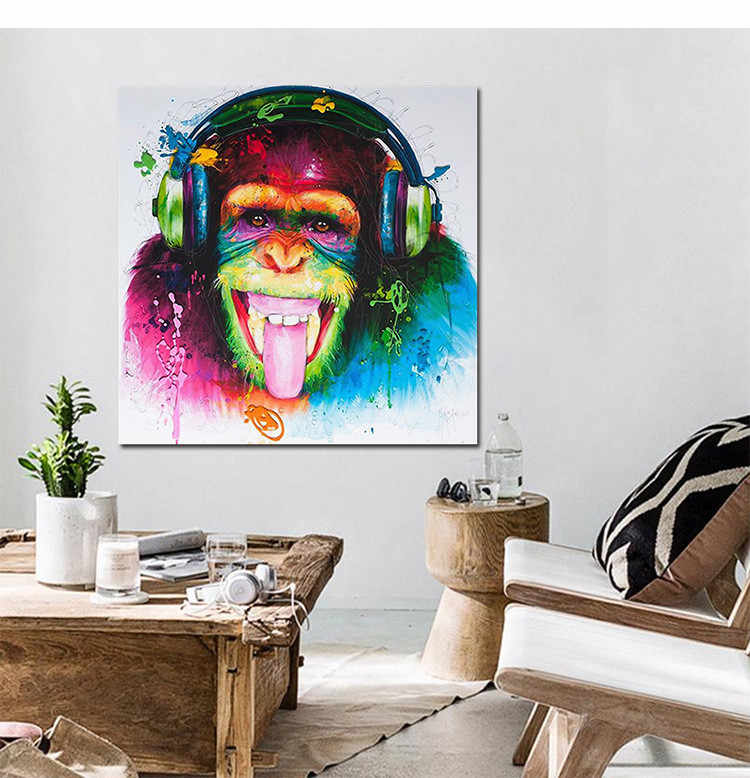 Abstract Orangutan Animal Painting Living Room Paintings Home Bedroom Porch Decorative