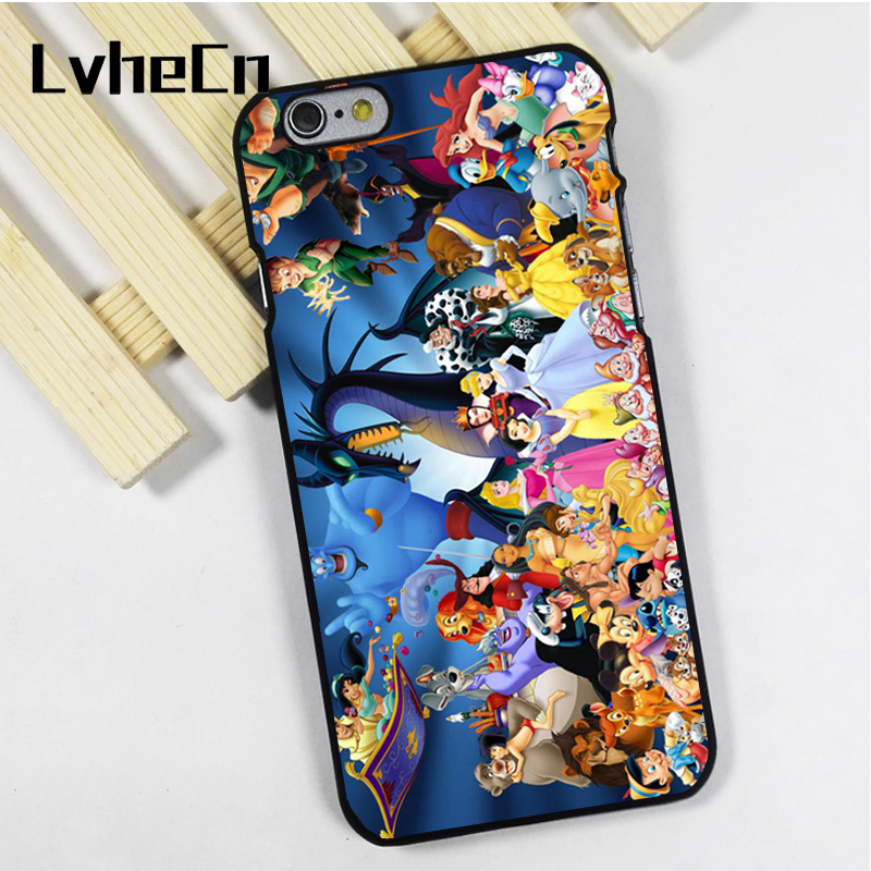 LvheCn phone case cover fit for iPhone 4 4s 5 5s 5c SE 6 6s 7 8 plus X ipod touch 4 5 6 Characters Jungle Book Aladin