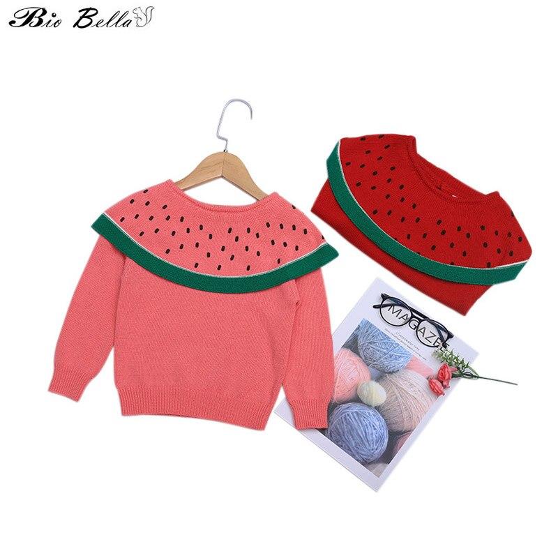 Mädchen Langarm Casual Herbst Frühling Oberbekleidung Mäntel Kinder Wassermelone Warm Nette Mädchen Pullover Kintwear 1-6 t kinder Mäntel