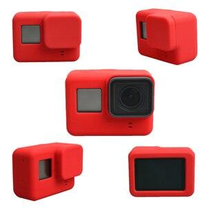 Image 4 - Lbkafa移動プロアクセサリー8色カメラケース保護シリコンケース皮膚 + レンズキャップカバー移動プロヒーロー5ヒーロー6カメラ