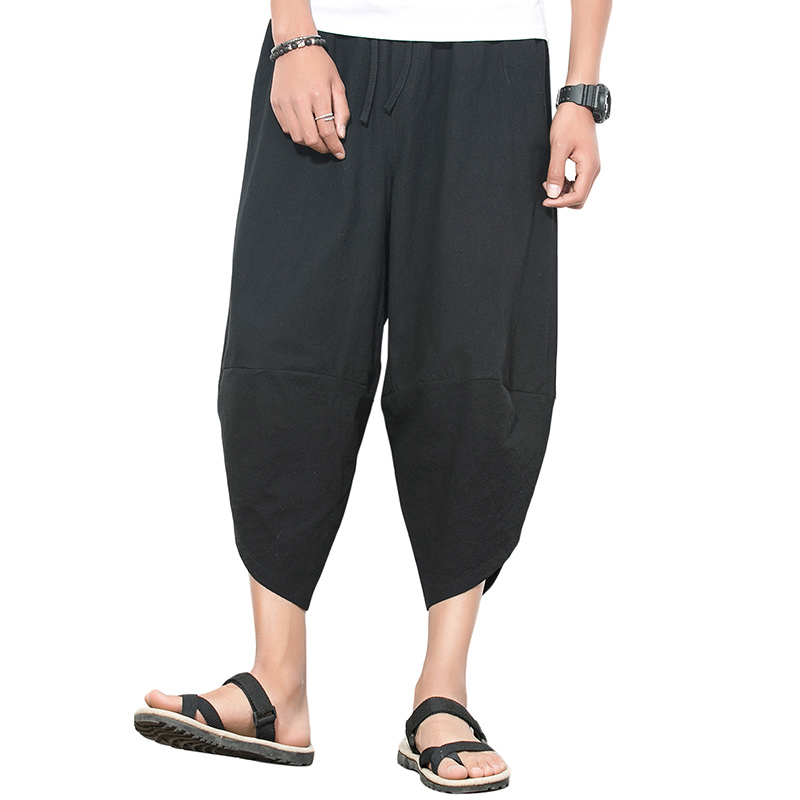 Cloudstyle Men Harem Pants Cropped-Trousers Loose Black Casual Youth Popular Fast-Delivery