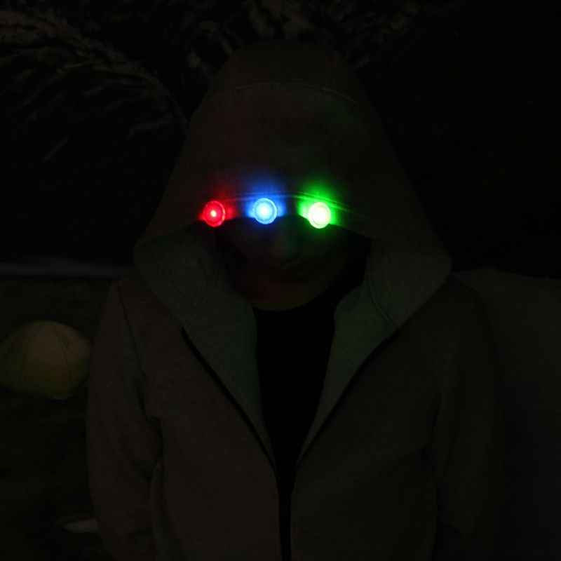 في الهواء الطلق LED متعددة الوظائف تحذير ضوء ليلة تشغيل المصابيح LED فلاش مشبك حذاء أضواء حزام الظهر تحذير ضوء