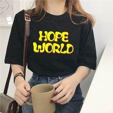 Female T-shirt harajuku gym gothic hope world clothes t shirt women tops friends vlone vintage stran
