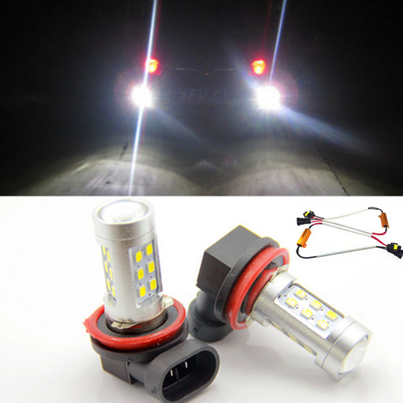 H11 H8 LED Projector Fog Light DRL No Error For BMW E71 X6 M E70 X5 E83 F25 X3 2004 For E53 X5 2003 - 2006  E90 325 328 335i boaosi 1x h11 high power led light 4014 33smd 30w fog light driving drl car light no error for bmw e71 x6 m e70 x5 e83 f25 x3