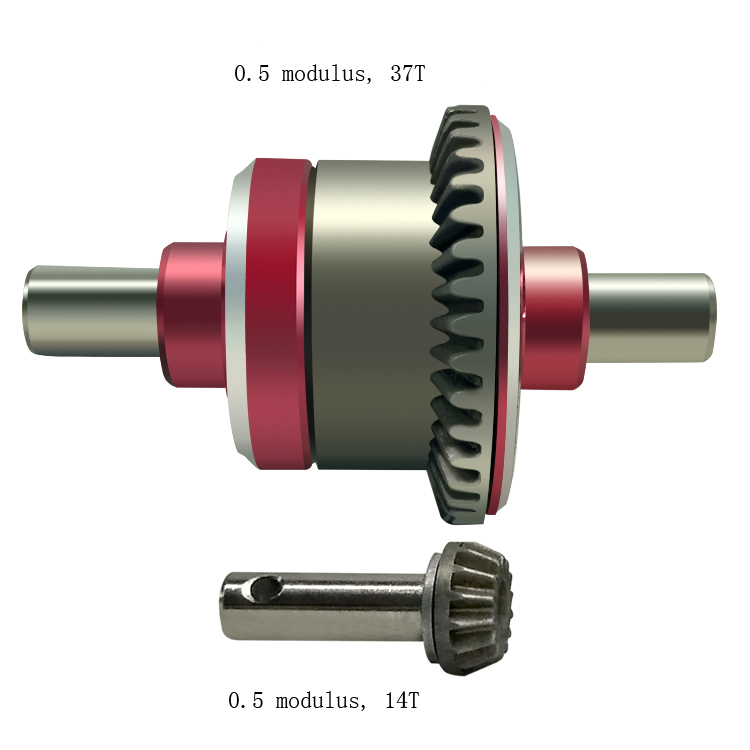 Набор из металлических передних/Средних/задних разностных шестерен для DIY радиоуправляемых автомобилей, модель с внедорожными/короткими к...