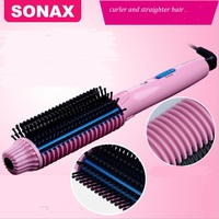 2 In 1 Hair Curling Iron Fast Heater Hair Straightener Comb Curler Hair Straighter Negative Ion