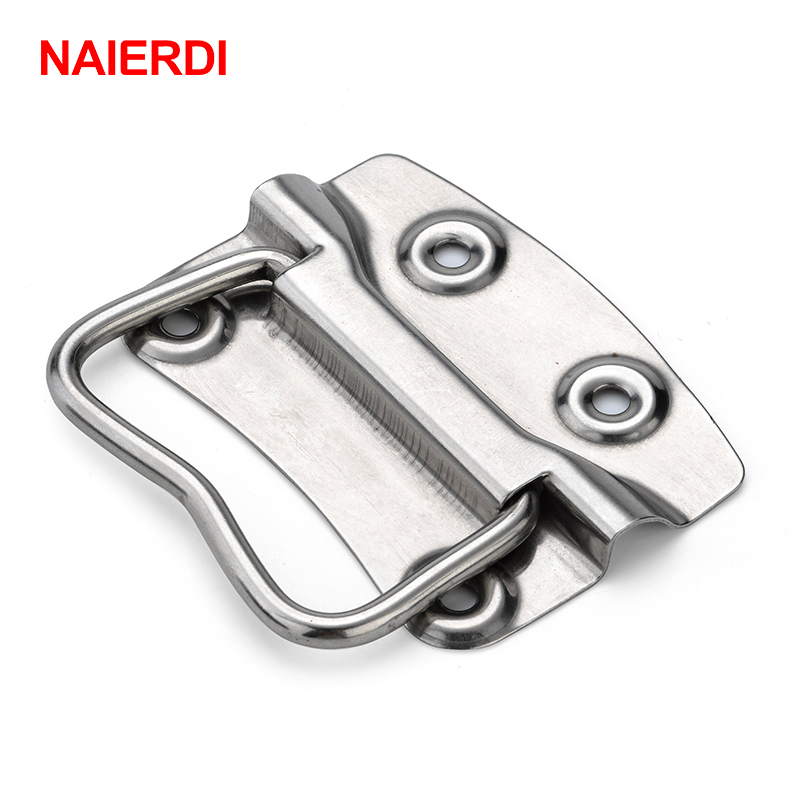 NAIERDI-J203 Cabinet Handle Wooden Case Knobs Tool Boxes Stainless Steel Handles Kitchen Drawer Pull For Furniture Hardware new 2pcs lot 304 stainless steel handles hidden recessed invisible pull fire proof door handles cabinet knobs furniture hardware