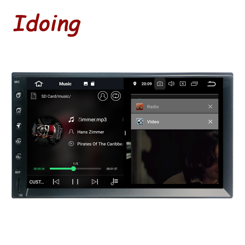 "Idoing 2Din 7""PX5 4G+32G Octa Core Universal Car GPS Radio Player Android 9.0 IPS screen Navigation Multimedia Bluetooth TDA7850-in Car Multimedia Player from Automobiles & Motorcycles    3"