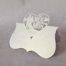 70pcs wedding Place Card Love Heart