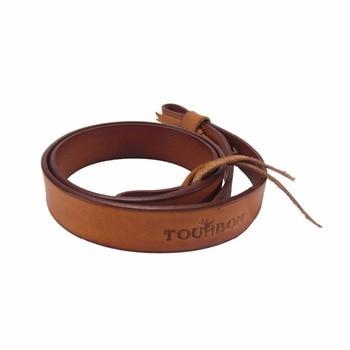 Tourbon Vintage Leahter Gun Sling Shotgun Belt Strap for Shooting and Hunting Brown Length Adjusted Heavy Duty Carrier