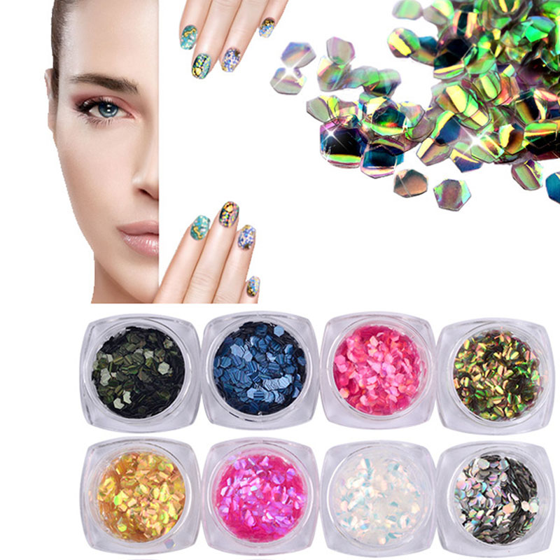 ≧New Nail Art Decoration Sequins Nail Art Glitter Round Mermaid ...