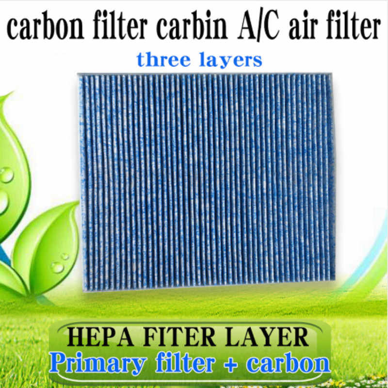 สำหรับ 2013-2017 Cura ILX รถยนต์เปิดใช้งานคาร์บอนตัวกรองอากาศภายในห้องโดยสารเครื่องกรองอากาศอัตโนมัติ/C กรองอากาศ