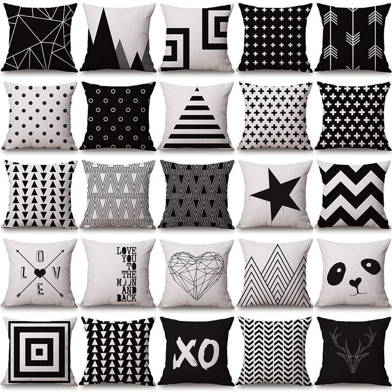 Buy christmas geometry cushion covers for Sofa bed for xmas