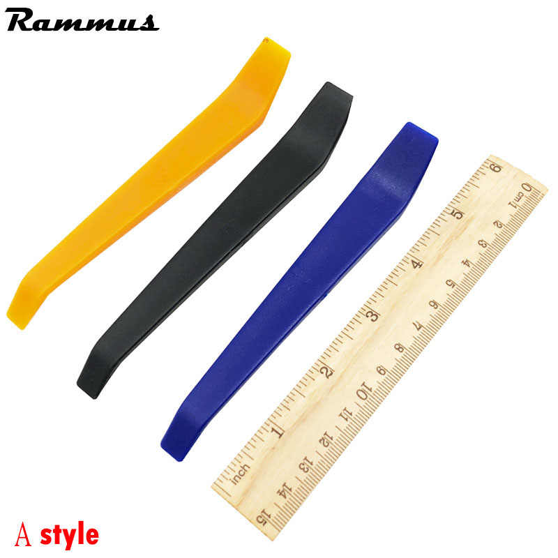 2pcs Car Repair Tool Kit Hard Plastic Metal Auto Car Radio Panel Interior Door Clip Panel Trim Dashboard Removal Opening Tool