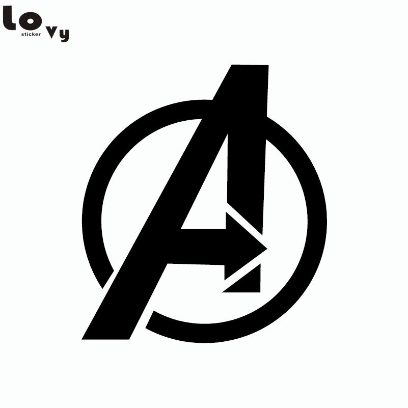80s Superhero The Avengers Logo Vinyl Wall Sticker for Kids Room Home Decor