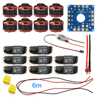 Assembled Kit 40A ESC Controller Tarot 320KV Motor Connection Board Wire for 8 Axis Drone Multi Rotor Hexacopter