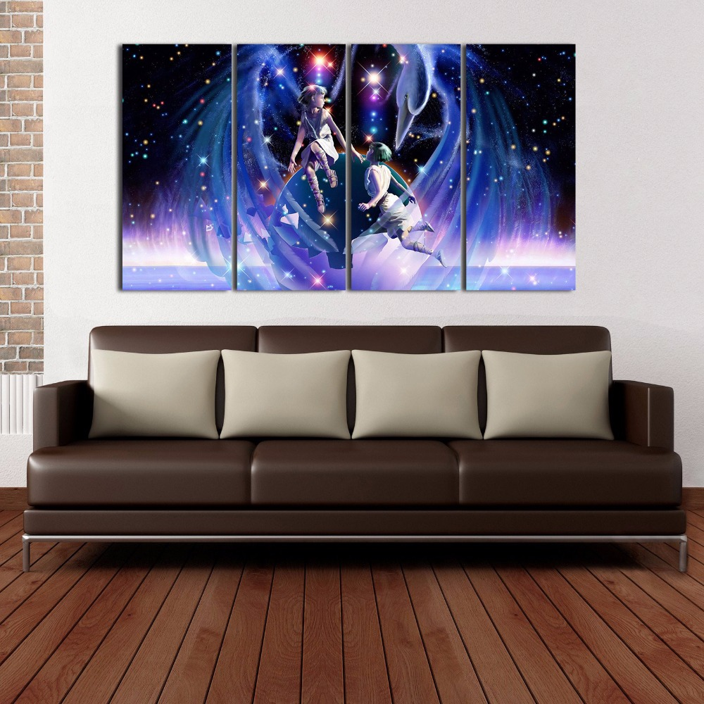 4 Panel Gemini Modular Picture Modern Home Wall Decor Painting Canvas Art HD Print Painting Wall Picture For Home Decor On Canv