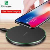 Chargeur sans fil Qi pour iPhone 8 X XR XS Max QC3.0 10 W chargeur sans fil rapide pour Samsung S10 S9/8 Note 8/9 LED chargeur USB