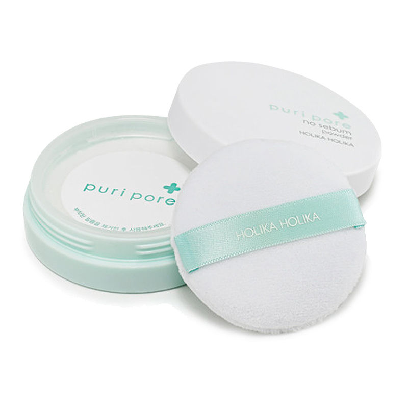 HOLIKA HOLIKA Puri Pore No Sebum Powder 7g Natural Mineral Powder Makeup Face Oil Control Smooth Repair Concealer цена