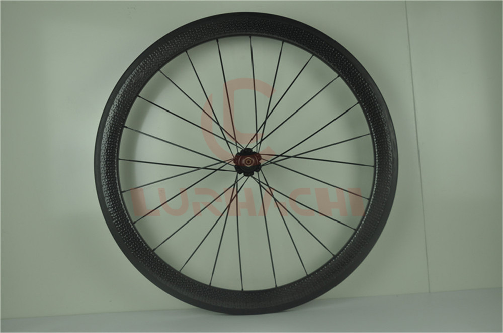 074f8375c27 LURHACHI 45mm Dimple Wheelset 700C 25mm Width Dimple Surface Carbon ...