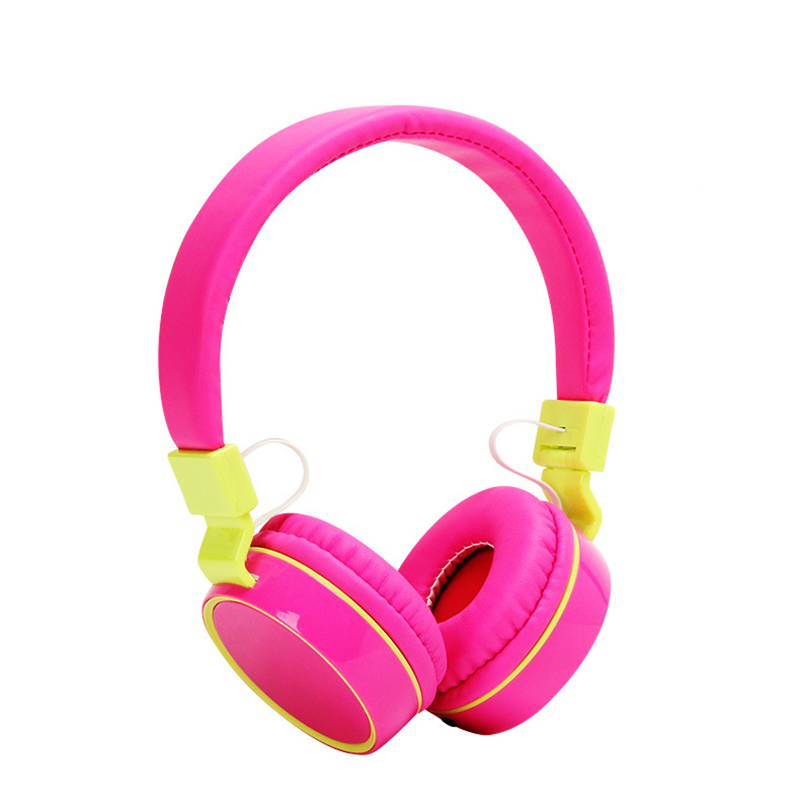 Aibesser colorful candy design on ear headphone adjustable 3.5mm wired HiFi earphone headset 1.2 meters cable for computer