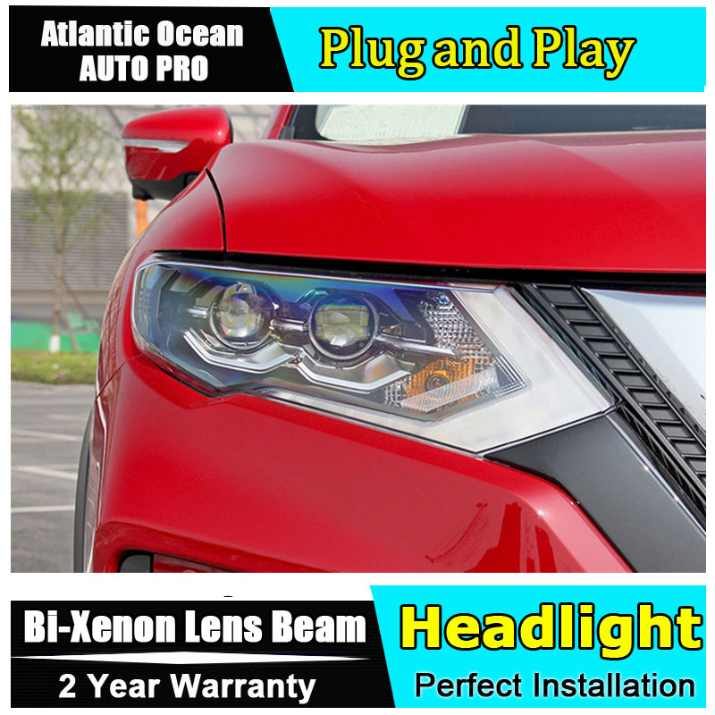 Auto part Style LED Head Lamp for Nissan X-Trail led headlight 2017 for X-Trail drl H7 hid Bi-Xenon Lens angel eye low beam auto part style led head lamp for benz w163 ml320 ml280 ml350 ml430 2002 2005 led headlights drl hid bi xenon lens low beam