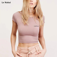 Women's Basic Short Sleeves Scoop Neck Crop Top Yoga Shirts Solid Orange Running Shirt Sport Gym Workout Tops Sportswear цена 2017
