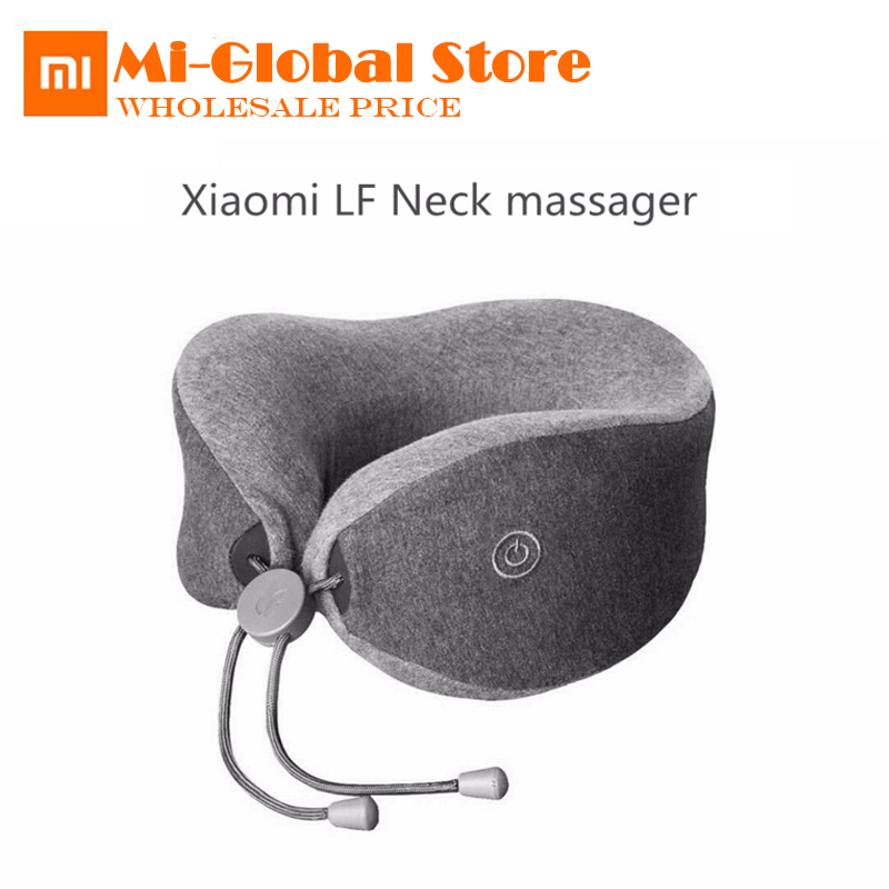 newest Original Xiaomi Mijia LF Neck Massage Pillow Neck Relax Muscle Therapy Massager Sleep pillow for office travel smart home md663bt