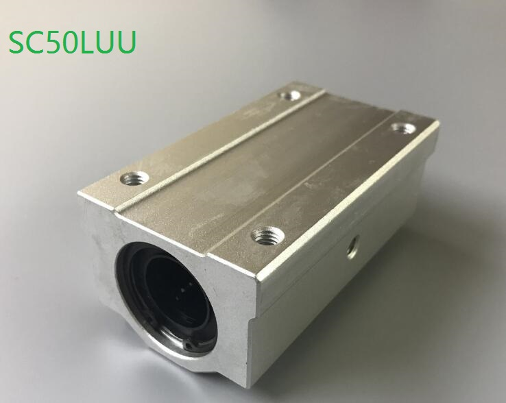 1pcs SC50LUU SCS50LUU long type linear case unit linear ball bearing block for 50mm linear shaft CNC router parts