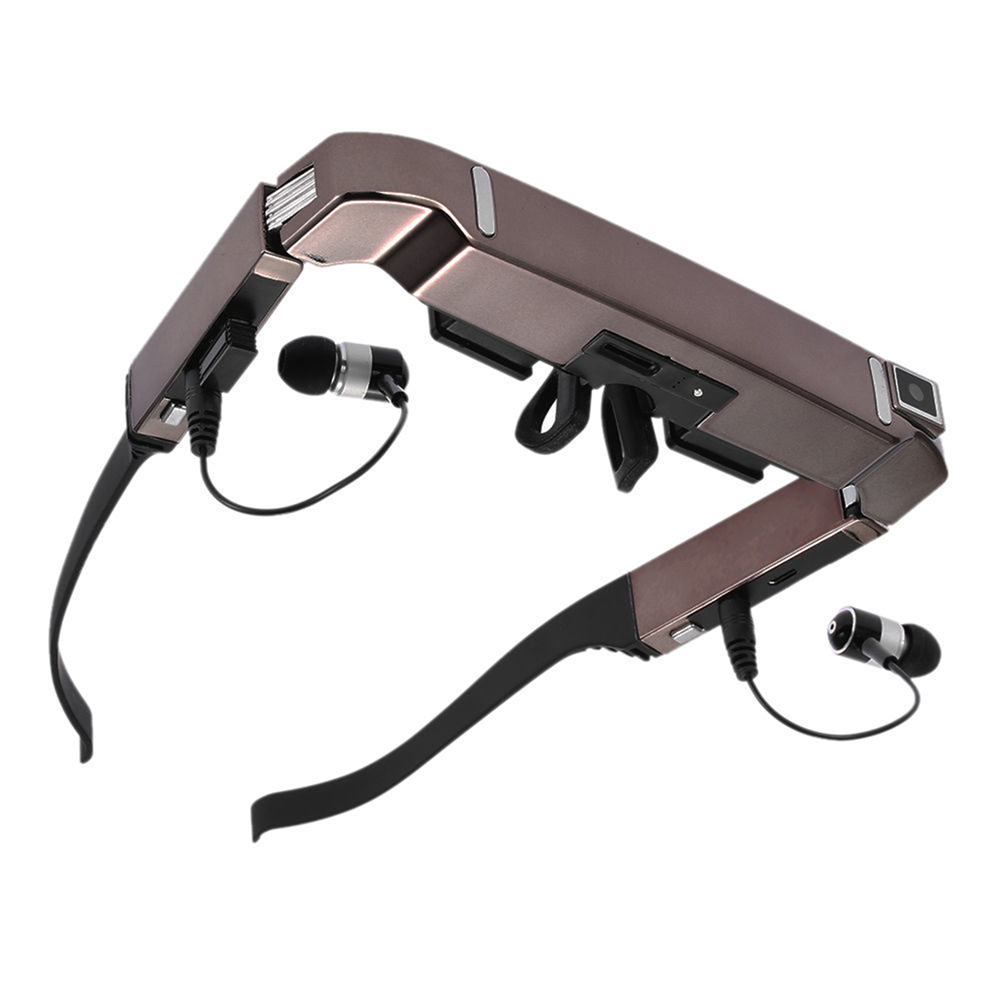 Vision 800 Smart Android WiFi Glasses 80 Wide Screen 5MP Camera Bluetooth 3D Video Glasses Side By Side Video Micro SD Card