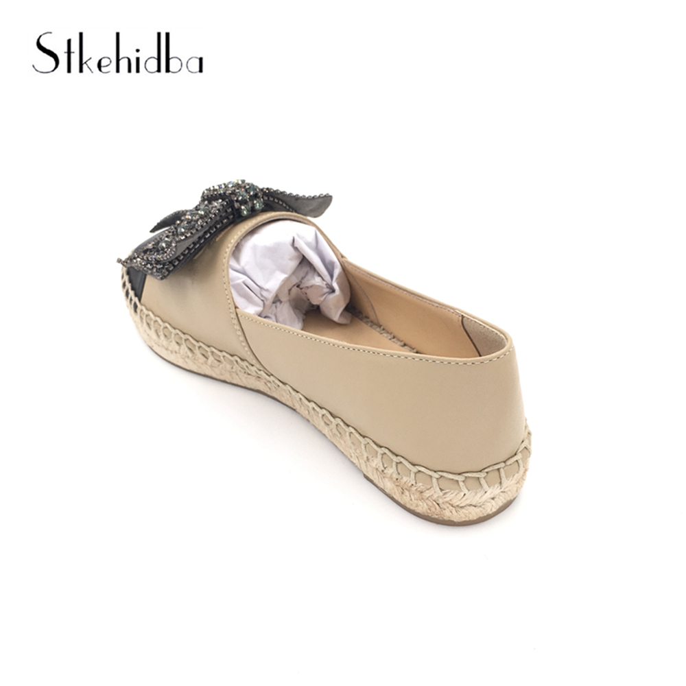 7247921806c7d Stkehidba Designer Brands Women Genuine Leather Espadrilles Fashion Flats  Woman Casual Loafers Plus Size 34 42 Women s Shoes -in Women s Flats from  Shoes on ...