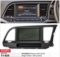 Fit for Hyundai Elantra AD 2016 Right wheel with pocket android 7.1 gps navi mp5 car dvd multimedia headunit tape recorder radio