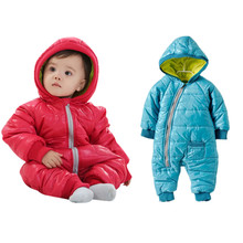 New Winter Newborn Infant Baby Cotton Padded Thick Coat Boys Girls Toddlers Zipper Hoodies Down Snowwear Kids Jumpsuit Clothes
