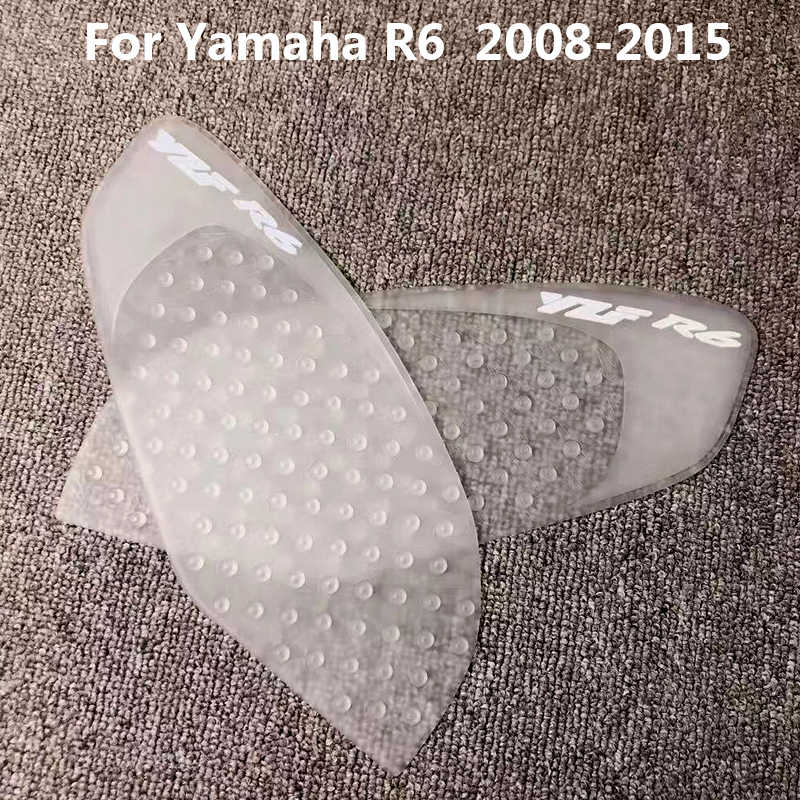 Tank Traction Gas Pad Knee Fuel Side Grips Protector For Yamaha YZF R6 2008-2015
